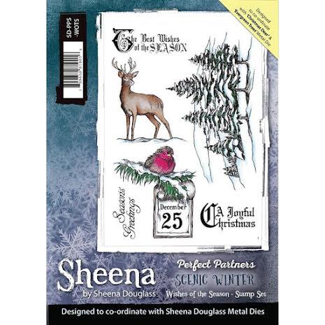 Sheena Douglass Scenic Winter Stamp A5 - Wishes of the Season UTGÅENDE