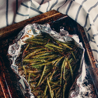 Garlicky Green Beans (Toaster Oven).
