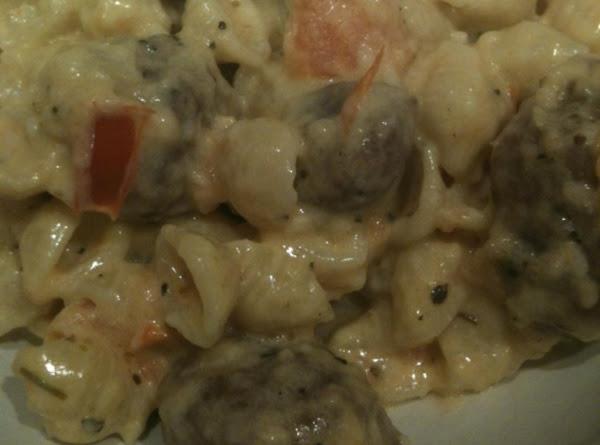 Tomato Alfredo With Italian Sausage Recipe