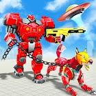 Dog Robot Car Transformation 3d