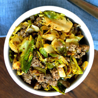 Mushroom and Brussels Sprouts Hash.