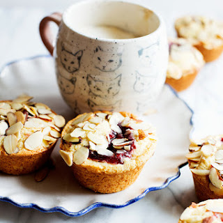 Jam Filled Almond Muffins