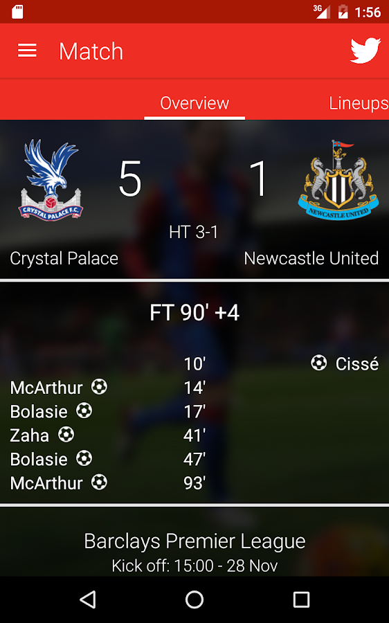 Crystal Palace FC- screenshot