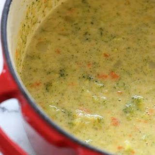 Broccoli Cheese and Potato Soup.