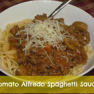 Tomato Alfredo Spaghetti Sauce.