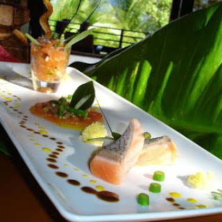 Tropical Salmon Three Ways.