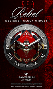Rebel Luxury HD Analog Clock Widget - náhled