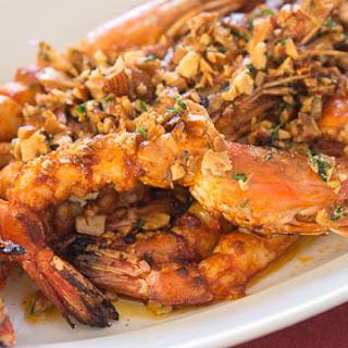 Grilled Almond Shrimp.
