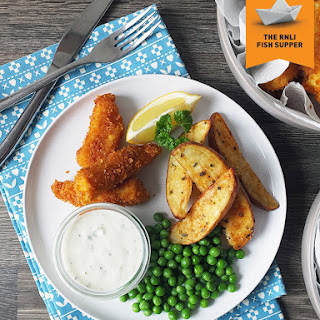 Homemade Fish Fingers, Potato Wedges & Tartare Sauce Recipe