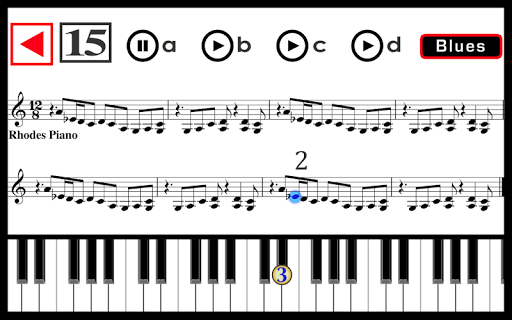 Learn to play Piano: Rock, Blues, Jazz, Funk. PRO Apps voor Android screenshot