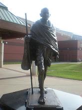 Photo: the Ghandi statue