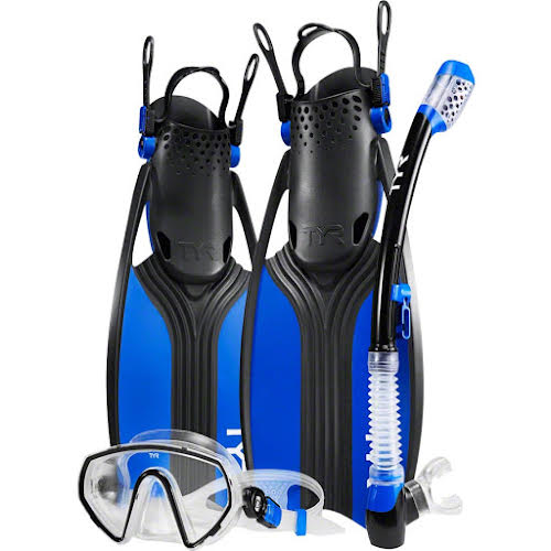 TYR Voyager Men's Mask and Snorkel Fin Set