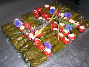 Photo: Feuilles de vigne farcies au riz et épices à la turque