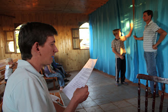 Photo: Several kilometers out of town is a small congregation where Horacio helps direct a rehearsal for an upcoming Christmas play and evangelism event.