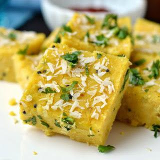 North Indian Chickpea Squares [Vegan, Gluten-Free].