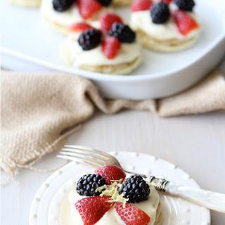 Puff Pastry Dessert Rounds with Lemon Mascarpone & Fresh Berries.