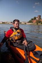 Photo: Poland Trek. 1200km. 150km of Mountain trekking+ 50km of packrafting+1000km of kayak down the Vistula river. First Summit to Sea of Poland. 2012 Here in Krakow, resting.© Natalie Hill Photography