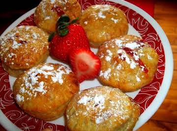 Strawberry Filled Puff Pastry Donuts