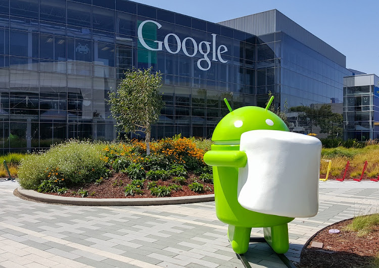 An Android Marshmallow replica is shown in front of a Google office in Mountainview, California, in the US.  Picture: ISTOCK