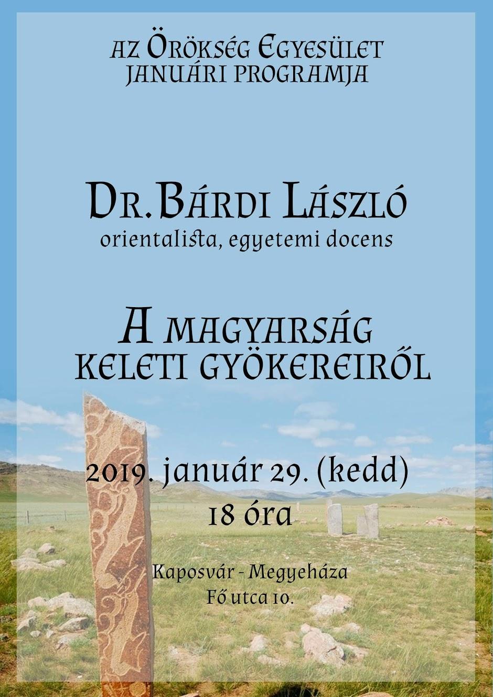 A magyarság keleti gyökereiről - előadás - 2019 január 29