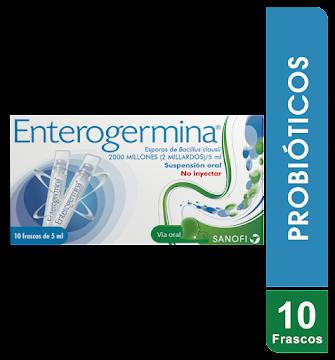 Enterogermina Sus. Oral   Caja X10Amp Sanofi Esporas De Bacillus Clausii