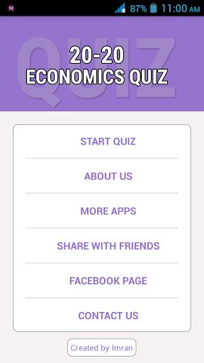 20-20 Economics Quiz