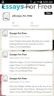 Essays For Free- screenshot thumbnail
