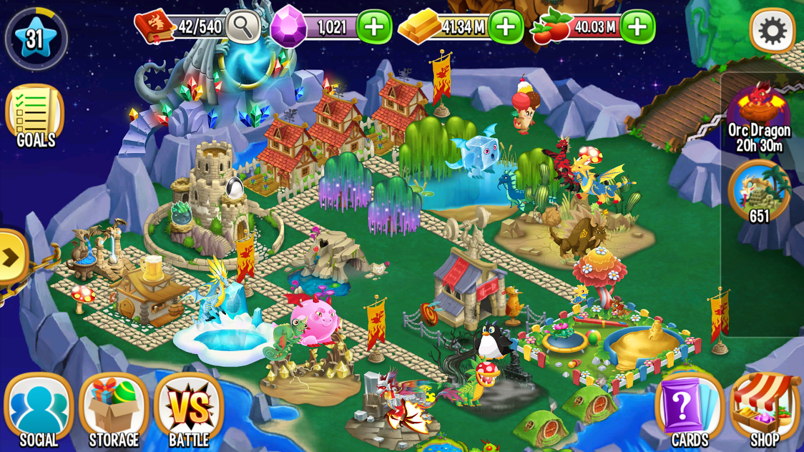 Screenshots of Dragon City for iPhone