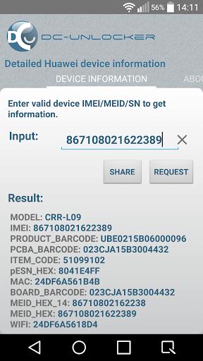 DC HUAWEI Info Checker 1.05 screenshots 1