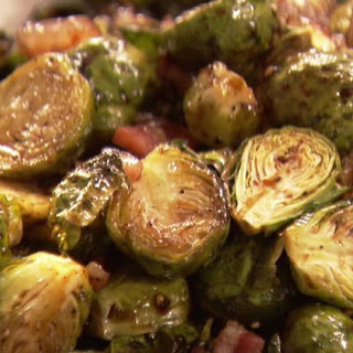 Garlic Bacon Brussels Sprouts