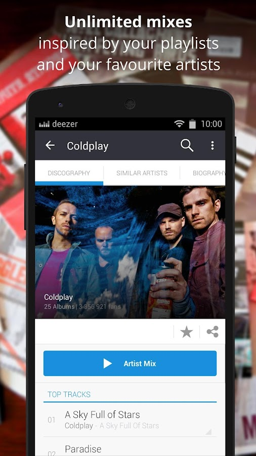 Deezer Music- screenshot