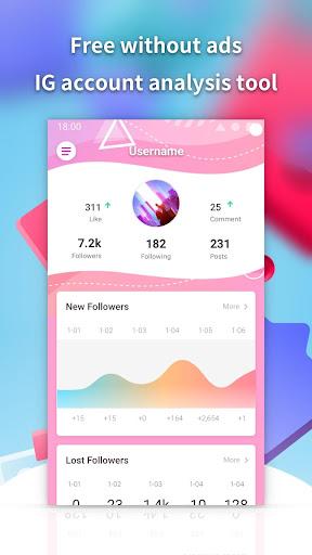 Followers insight for Instagram-reports tracker screenshot 1