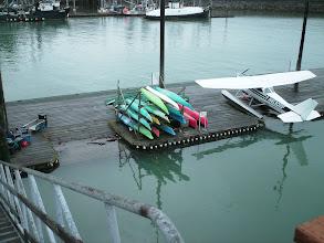 Photo: The sea plane and kayak dock in Wrangell, Alaska.