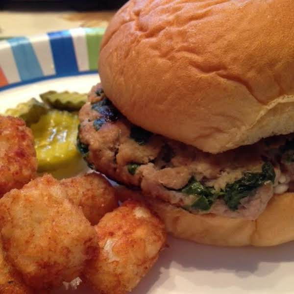 Turkey, Spinach & Feta Burgers Recipe