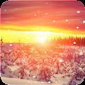 Snow Sunset Live Wallpaper icon