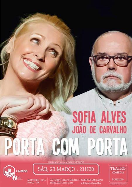 Comédia com Sofia Alves e João de Carvalho celebra Dia Mundial do Teatro no TRC