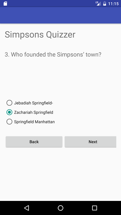 Quiz for Simpsons Fans- screenshot
