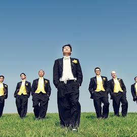 gangsta by Henry Kurniawan - Wedding Groom ( style, wedding, outdoor, grooms, grooms man )