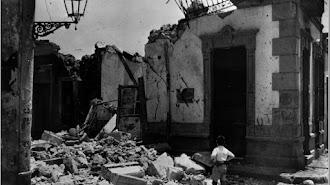 Vivienda destrozada tras el bombardeo