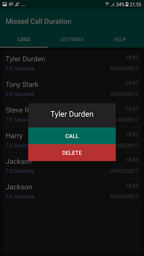 Missed Call Duration 2.0.2 screenshots 2