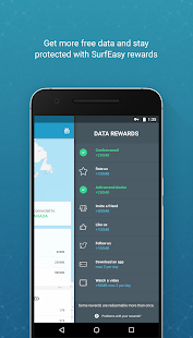 SurfEasy sichert Android VPN Screenshot