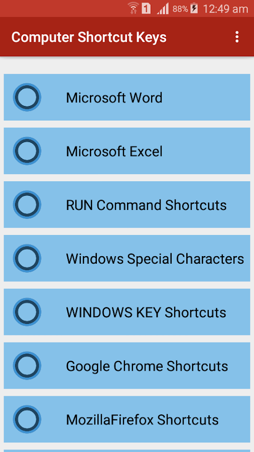 Computer Shortcut keys - Android Apps on Google Play