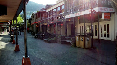 Photo: Downtown Queenstown was about one and a quarter miles from our hotel.  It was very quiet at 8 AM.