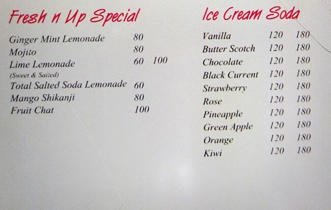 Fresh 'N' Up menu 2