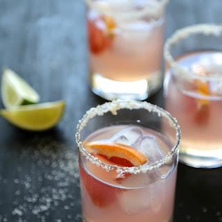 Grapefruit Margarita with Ginger Salt Rim.