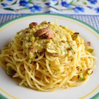 Spaghetti with Artichoke and Pistachio Pesto Recipe