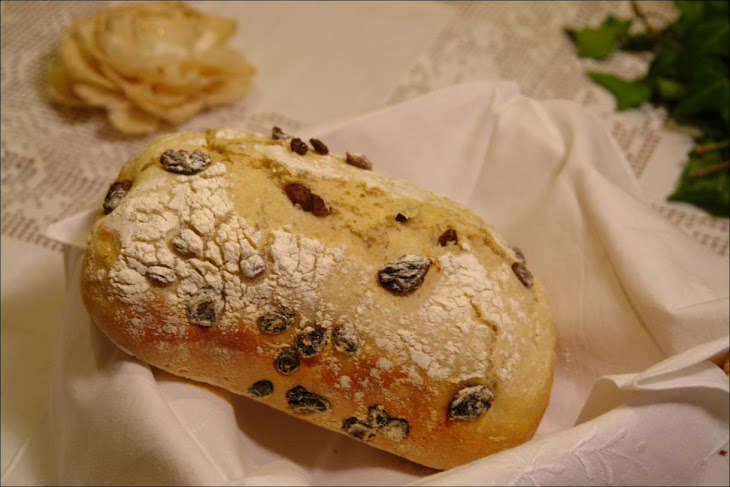 Bread with Raisins and with Artisan Bread
