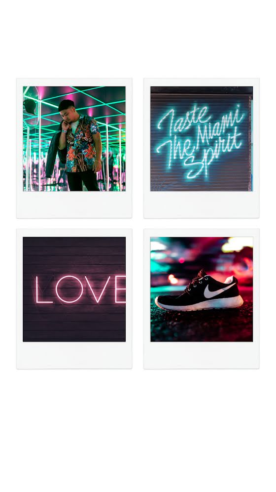 Neon Squares - Facebook Story Template