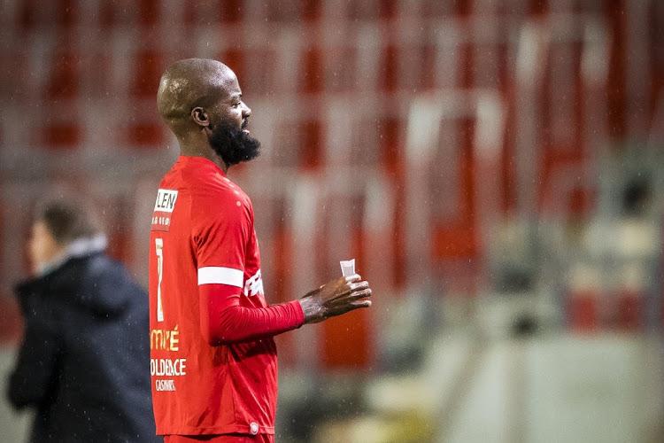 Lamkel Ze Didier na zijn goal tegen Waasland Beveren