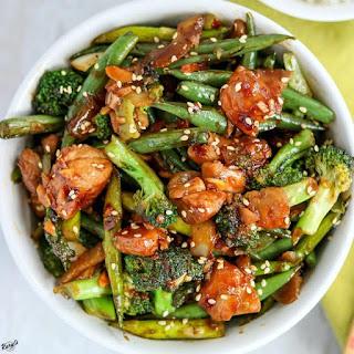 Spicy Chicken Vegetable Stir Fry.